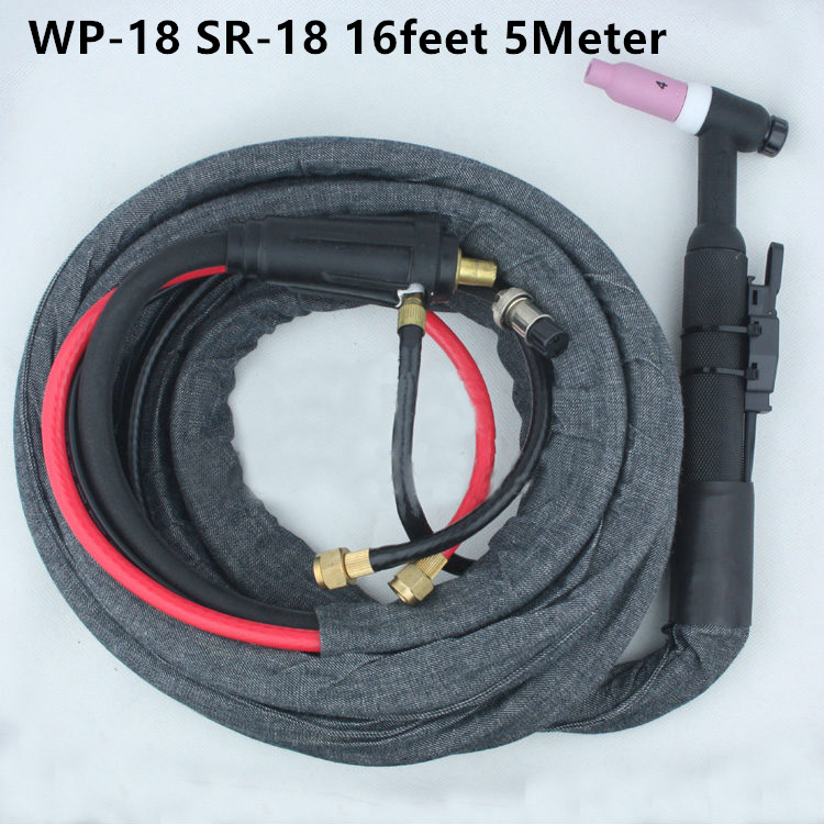 WP-18 SR-18 High Quality Tig Welding Gun TIG Welding torch Complete Water cooled 350Amp 16Feet 5Meter  Soldering iron 55pcs hand tool set kit household tool kit saw screwdriver hammer tape measure wrench plier