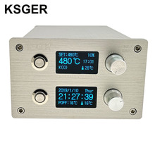 KSGER 2 ב 1 T12 STM32 OLED הלחמה תחנת אוויר חם אקדח SMD מייבש דיגיטלי חוזרת הסרת הלחמה תיקון כלי אלומיניום סגסוגת ידית