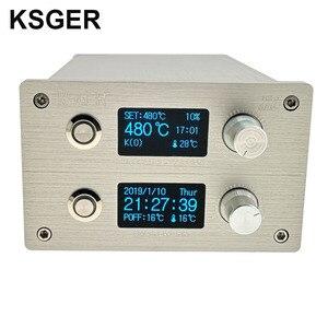 Image 1 - KSGER 2 In 1 T12 STM32 OLED 납땜 스테이션 핫 에어 건 SMD 건조기 디지털 재 작업 디 솔더링 수리 도구 알루미늄 합금 핸들