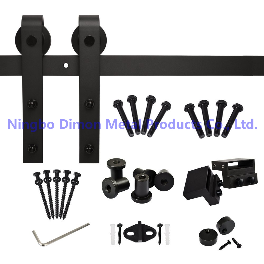 Free Shipping Dimon Hot Sell America Style Sliding Wood Door Hardware DM-SDU 7201 With Damper Kits (without Sliding Rail)