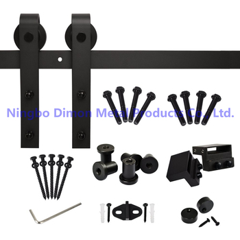 Free shipping Dimon hot sell America style sliding wood door hardware DM-SDU 7201 with damper kits (without sliding rail) free shipping 8 pieces high quality sliding door crane rail hang round of bathroom accessories