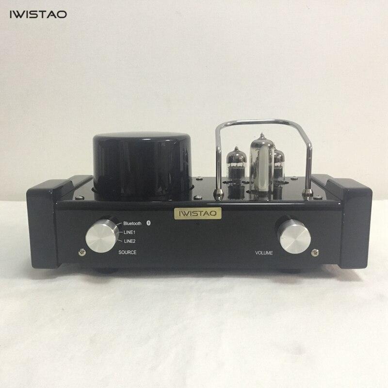 IWISTAO HIFI MINI Tube amplificateur hybride sans fil Bluetooth 4.0 6N1 préampli scène de puissance 2x28 W APT-X Audio de bureau 115/230 V