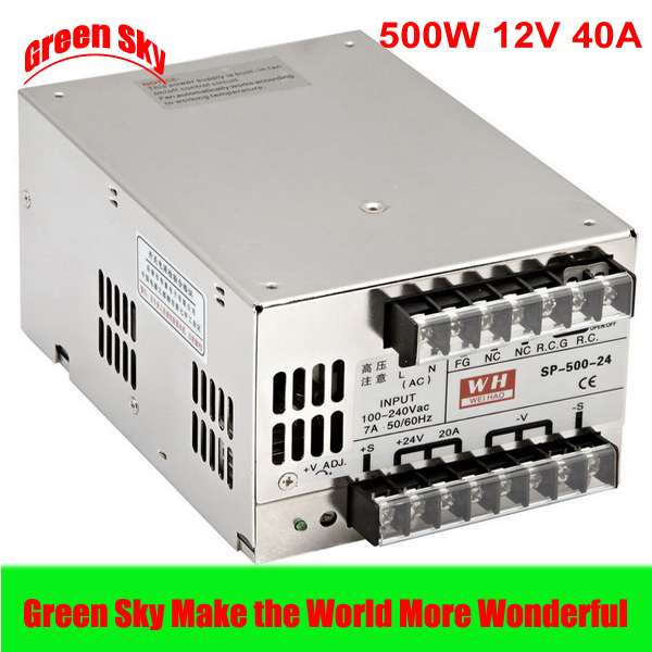 ФОТО New Arrival 500W Voltage Transformer LED Display with PFC function DC single output power supply 12v 40a