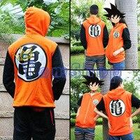 Dragonball Z Goku Cosplay Com Capuz da Camisola Do Hoodie do Revestimento do Revestimento Anime Show de Halloween Costume 2 Estilos para Escolher