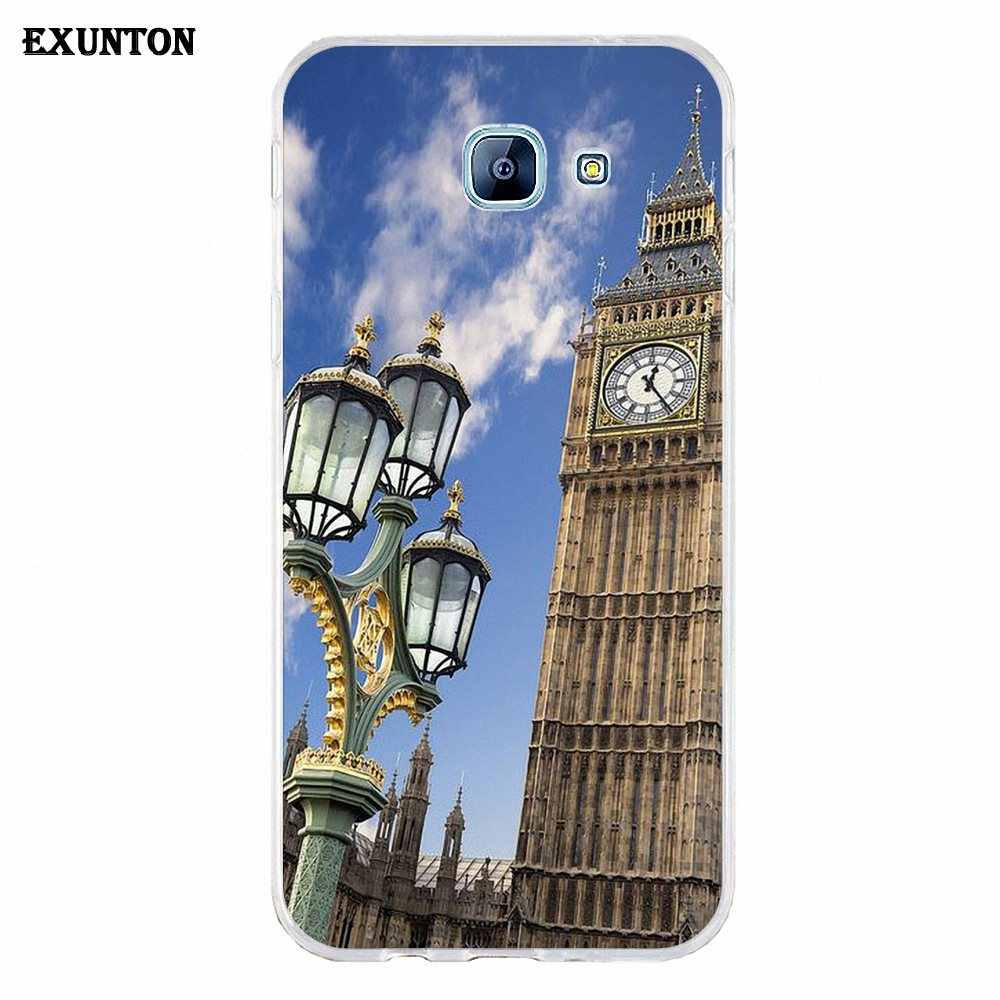 TPU Case Cover London Big Ben With Aluminum Frame For Galaxy A3 A5 A7 A8 A9 A9S On5 On7 Plus Pro Star 2015 2016 2017 2018