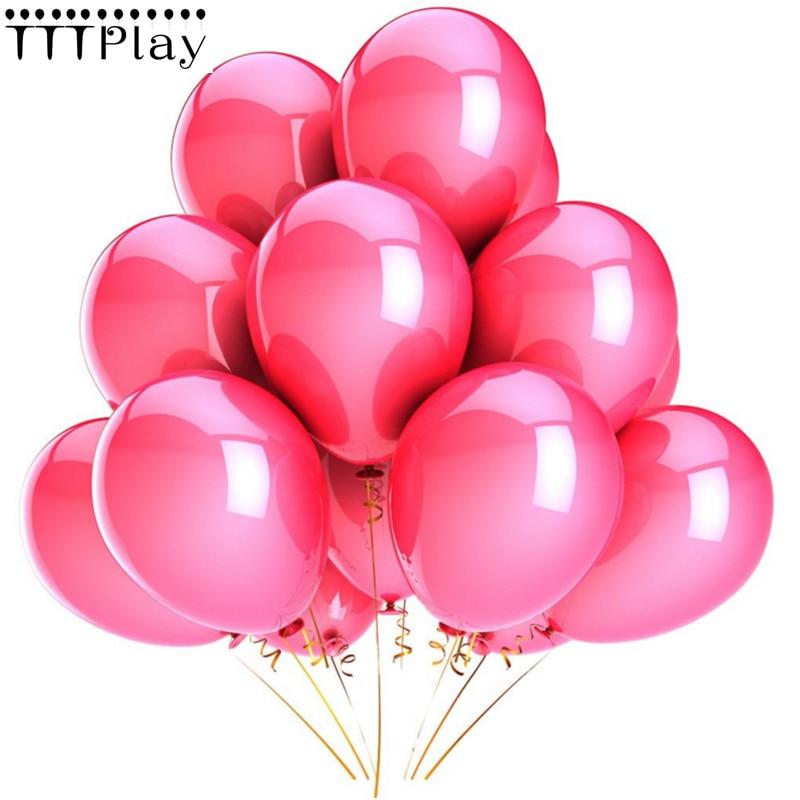 Воздушные шары розовые, 10 шт./Лот, 12 дюймов, 2,8 г