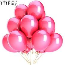 Ballons roses en Latex, 10 pièces/lot, 12 pouces, 2.8g, ballons gonflables pour décoration de mariage, ballons à Air pour fête d'anniversaire