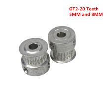 3D Printer Parts Accessory GT2 20teeth 20 Teeth Bore 5mm/8mm Timing Alumium Pulley Fit for GT2-6mm Open Timing Belt(China)