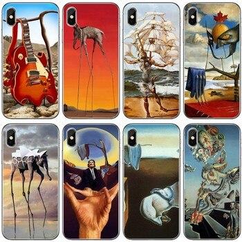 Salvador Dali celular de silicona suave teléfono carcasa para iPhone 6 6plus 7 8 plus 5 5S 5C SE para iPhone X XS X XR XS.