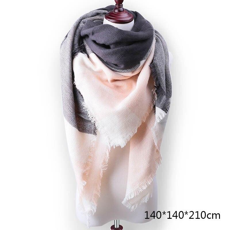 Горячая Распродажа, Модный зимний шарф, Женские повседневные шарфы, Дамское Клетчатое одеяло, кашемировый треугольный шарф,, Прямая поставка - Цвет: A9