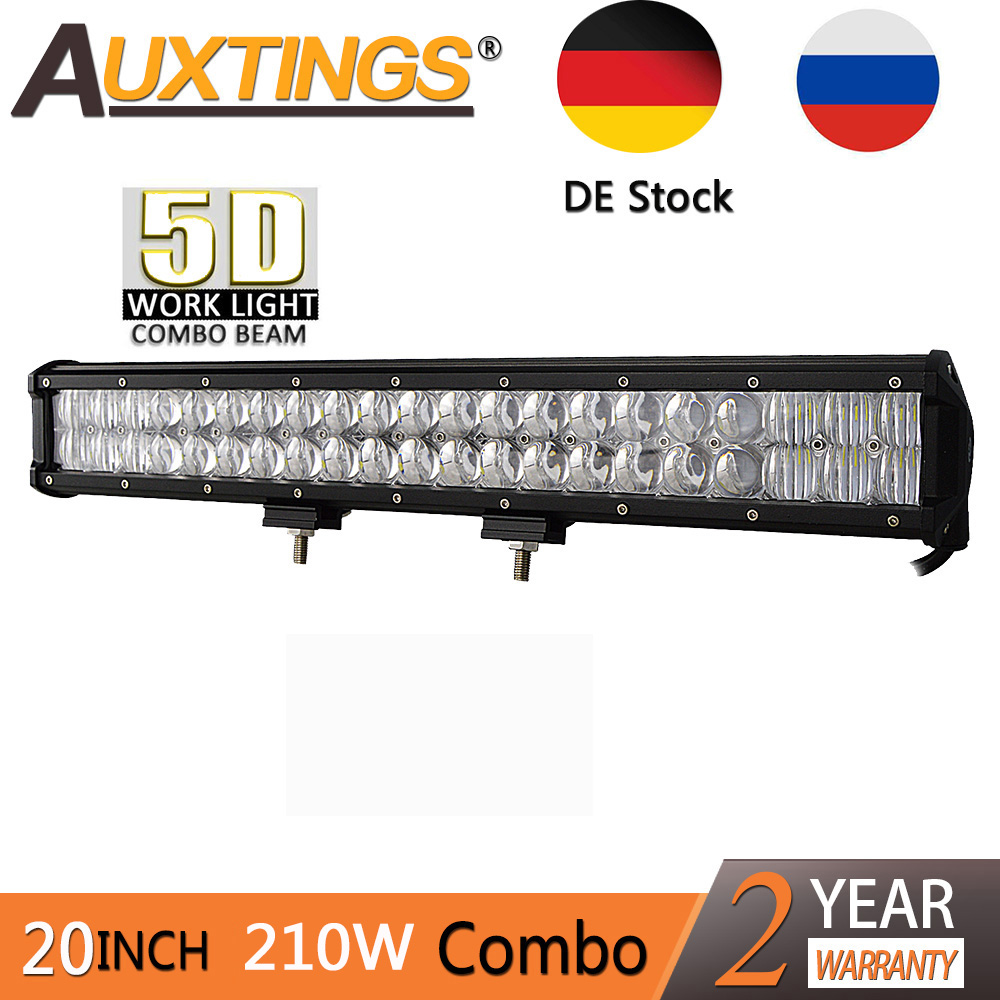 Auxtings Combo Beam 20inch 210w Dual Rows IP67 Waterproof Car Led Bar 5D LED Light Bar For JEEP Truck Car LED Lamp For Auto truck led ramp 36w led light bar with ip67 waterproof rate