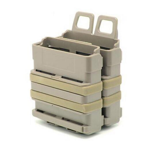 Obliging New Fast Double Magazine Holster Pouch Set Molle System ,fma Fastmag 7.62mm Without Return de