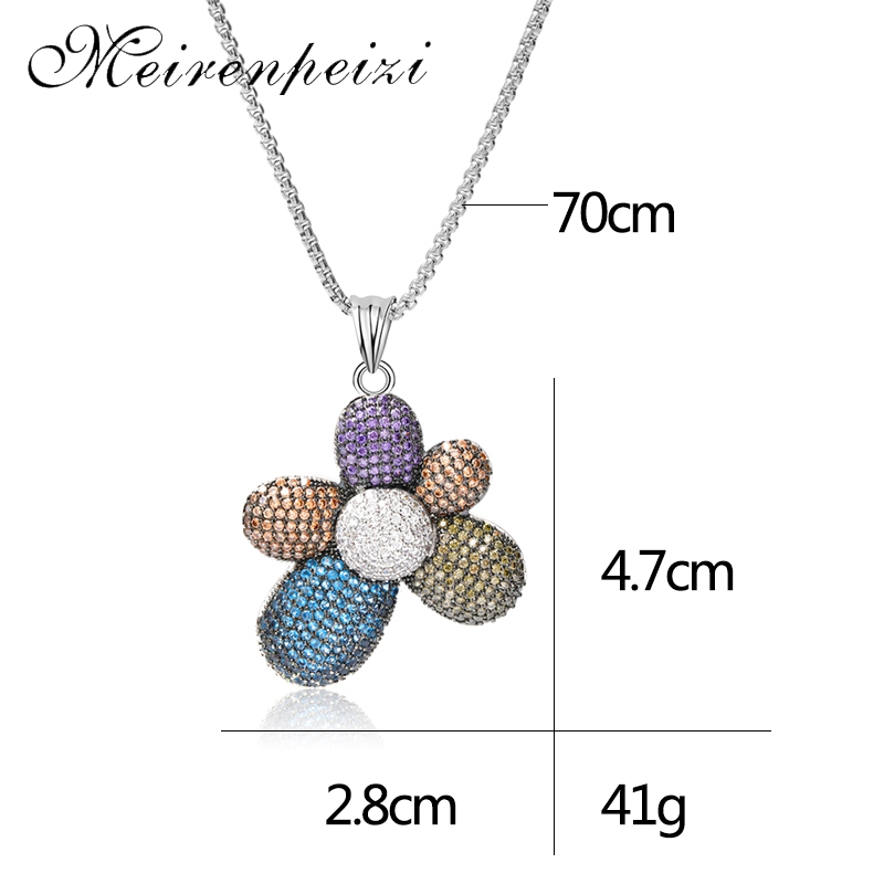 2019 fashion cute and playful new products on the market fashion hot personality color flower necklace pendant in Pendant Necklaces from Jewelry Accessories