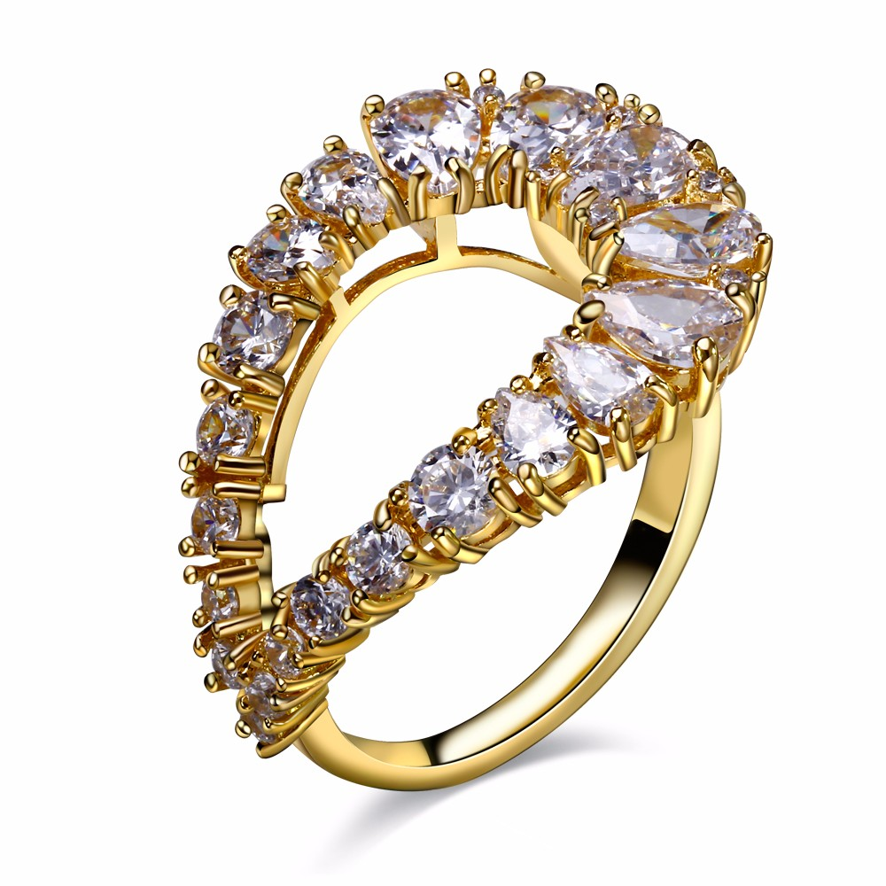 New 2017 Dress evening Drop shape 5 Colors Cubic Zirconia Gold ...