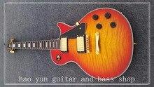 2017 freies verschiffen gbson LP 2 pickups mahagoni korpus les rote kundenspezifische elektrische gitarre aus china fabrik direkt
