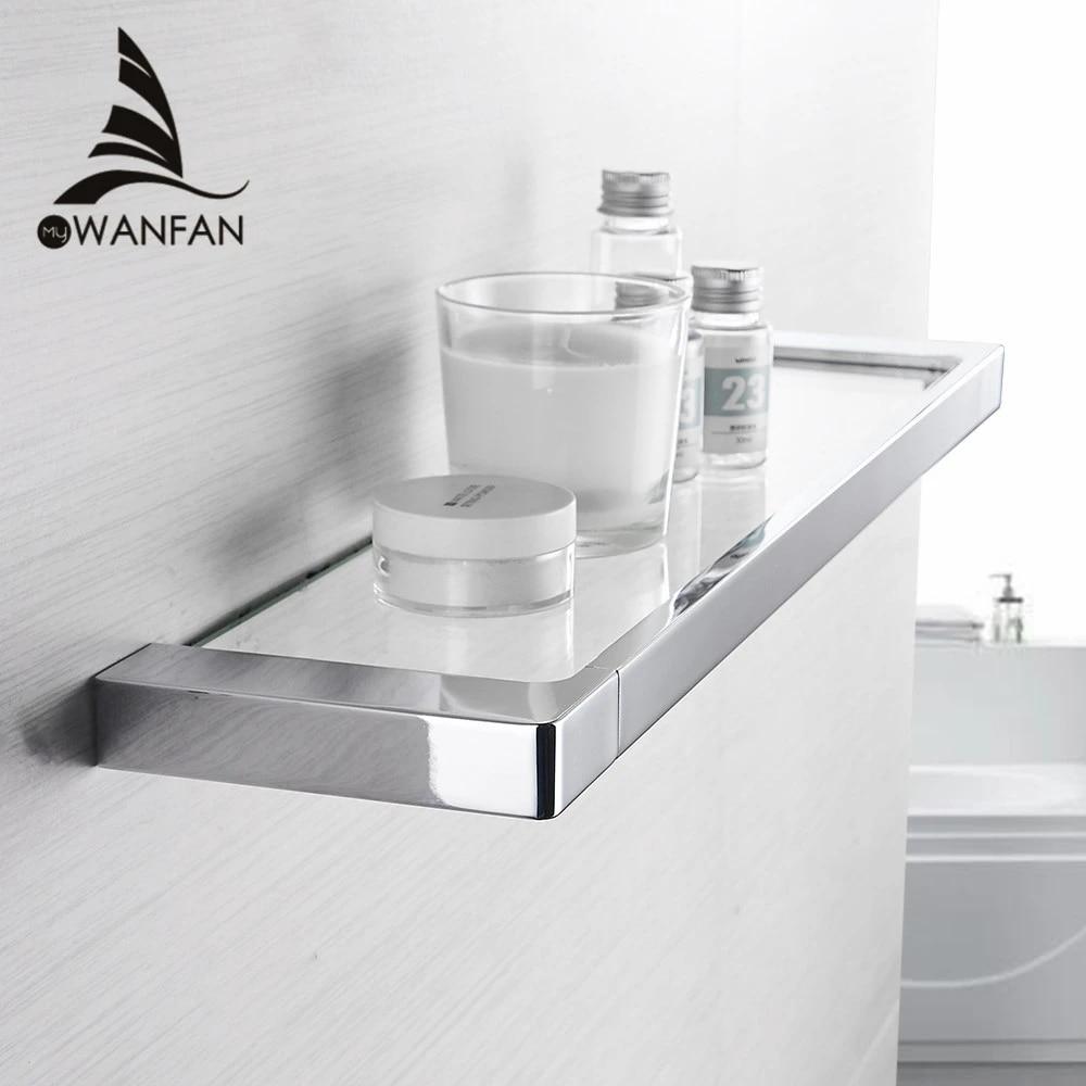 Bathroom Shelves Chrome Zinc Bath Shelf With Single Tempered Glass The Wall Bathroom Storage Holder Bathroom Accessories 5752 Bathroom Shelves Aliexpress