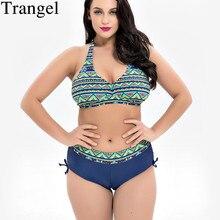 Trangel Bikini 2019 Plus Size Swimwear Female Swimsuit High Wait Bikini Set Swimming Suit For Women Swimsuit Swimwear Swim Suit стоимость