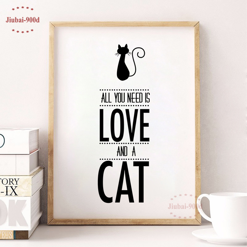 Cat Quote Canvas Painting Poster, Wall Pictures for Home Decoration,Posters And Prints FA379