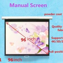 Jingke проекционный экран 96 дюймов 1:1 ручной экран 4 К/3D/2D матовый белый проекционный экран