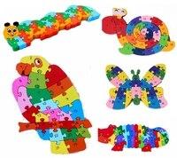 צדדים כפולים ג 'ירף מעץ תומאס רכבת לילדים אלפבית מספר מכתב מתמטיקה פאזל ABC 123 פאזל דיגיטלי בובת צעצוע של ילדים