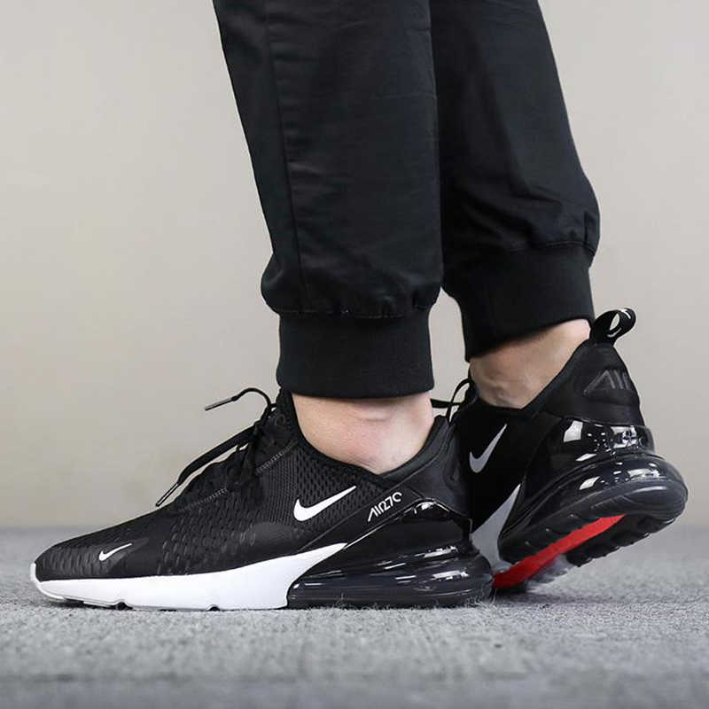 best loved 8aa68 dbd2a Original Nike Air Max 270 Mens Running Shoes Sport Outdoor Breathable  comfortable jogging wear resistant Designer Sneakers