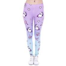 Брендовые новые модные женские леггинсы с принтом единорога и сладостей, леггинсы для фитнеса, сексуальные женские штаны с высокой талией