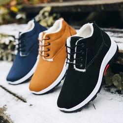 Boots Men's Comfortable Warm Winter Casual Shoes Men Outdoor High-top Boots Fashion High Quatily Driving Shoes Zapatillas Hombre