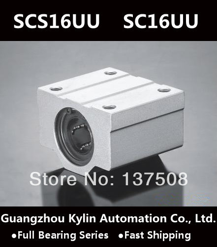 Melhor Preço! 4 pcs SCS16UU/SC16UU Linear Bearing 16mm Bloco de Slides Linear, 16mm CNC Router deslizamento linear