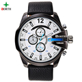 Mens Watches Top Brand Luxury NORTH Men Military Sport Hours Wristwatch Leather Quartz Watch relogio masculino