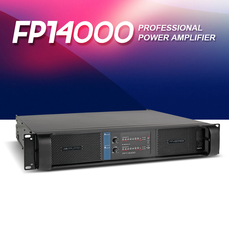 The highest quality line array amplifier music amplifier LAB fp14000q professional quality metal high power amplifier