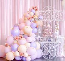 METABLE 106pcs Pastel Balloons Arch KIT Pink and Purple Gold Confetti for Baby Shower Girls Birthday Party Decorations