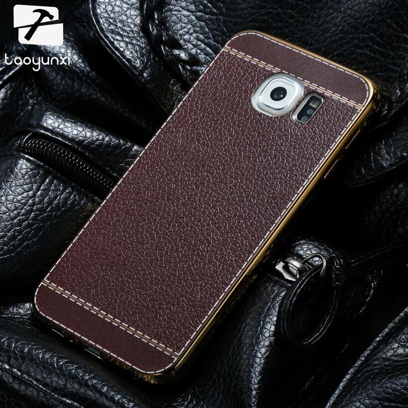 TAOYUNXI мобильного телефона Чехлы для samsung Galaxy S6 SVI G9200 G9208 G9208/SS G9209 G920A G920F Plat личи кожаный сумка кожа оболочка ...