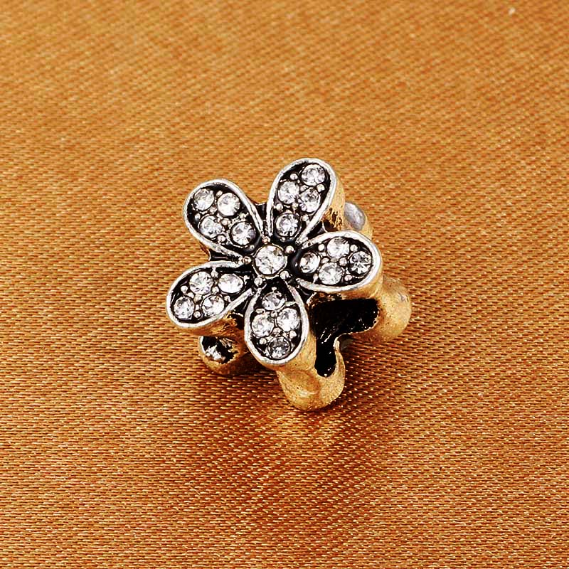 SPINNER Flower Crystal Charm Beads pave AAA Zircon Charms Fit Pandora Charm Bracelets for women diy jewelry gift