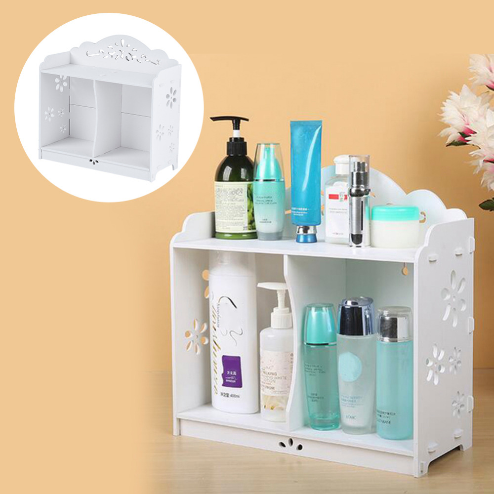 2016 White WPC board Storage Cabinet Shelf Wall Hanging Bathroom ...