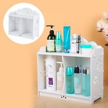 2016 White WPC board Storage Cabinet Shelf Wall Hanging Bathroom BedroomCabinet Storage Rack Shelving waterproof mildew proof
