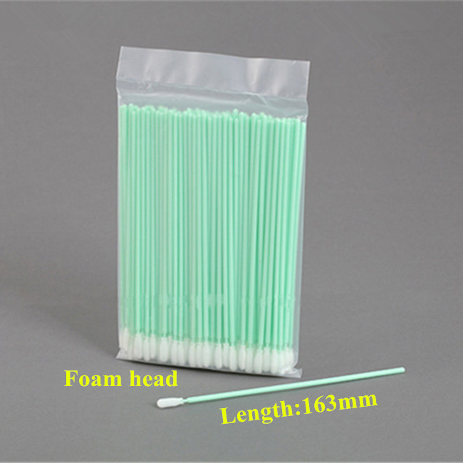 100 Long Handle Cleanroom Lint free Foam antistatic Swabs small head