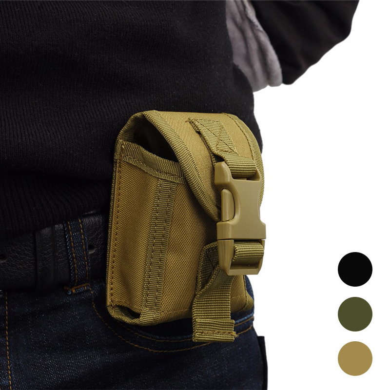 Outdoor Military Tactical Molle Waist Accessories Bag Belt Phone Pouch Utility Sundries Bag Hunting Hiking Camping Waist Pack