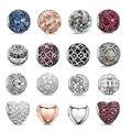 O envio gratuito de prata DIY encantos Rodada beads Pingentes para colares mulheres homens Moda Jóias bolas do fit pulseiras meninas TZ036