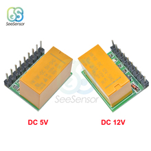 DR21A01 Mini DC 5V 12V 1 Channel DPDT Relay Module Polarity
