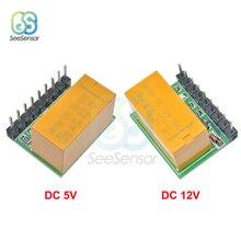 DR21A01 Mini DC 5V 12V 1 Channel DPDT Relay Module Polarity