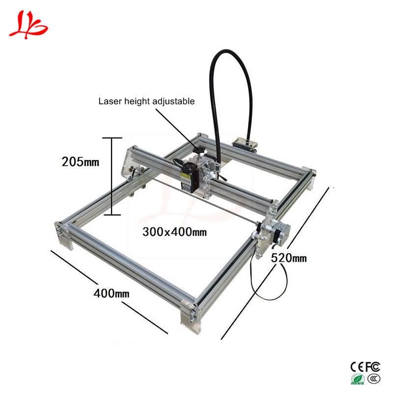 Machine de marquage de CNC en métal 15 W machine de gravure laser bricolage 3040 avec hauteur réglable