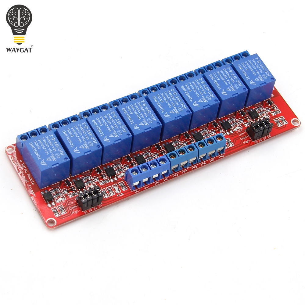 Wavgat 1 2 4 8 Channel 5v 12v Relay Module Board Shield With Through An Optocoupler Circuit Electronic Projects Support High And Low Level Trigger For Arduino In Integrated Circuits From