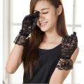 Sexy Women's Wrist-length Stretch Gloves Driving Costume Lace Gloves 3 Colors Evening Party Prom