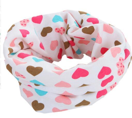 Новинка; сезон осень-зима; шарф из хлопка для девочек; Детский шарф; нагрудный шарф для мальчиков и девочек с круглым кольцом; милый детский шарф с воротником; Bufandas - Цвет: heart