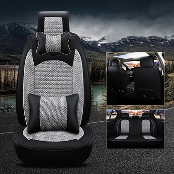 WLMWL Universal Leather Car seat cover for Isuzu all models D-MAX mu-X 5 seats auto accessories styling
