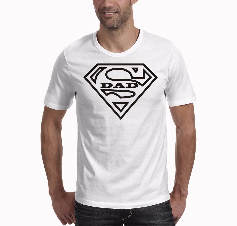 SexeMara Super Dad T Shirt Fathers Day Gift Vaderdag T Shirt Fathers Day Gift Summer Fashion O Neck Short Sleeves T-shirt