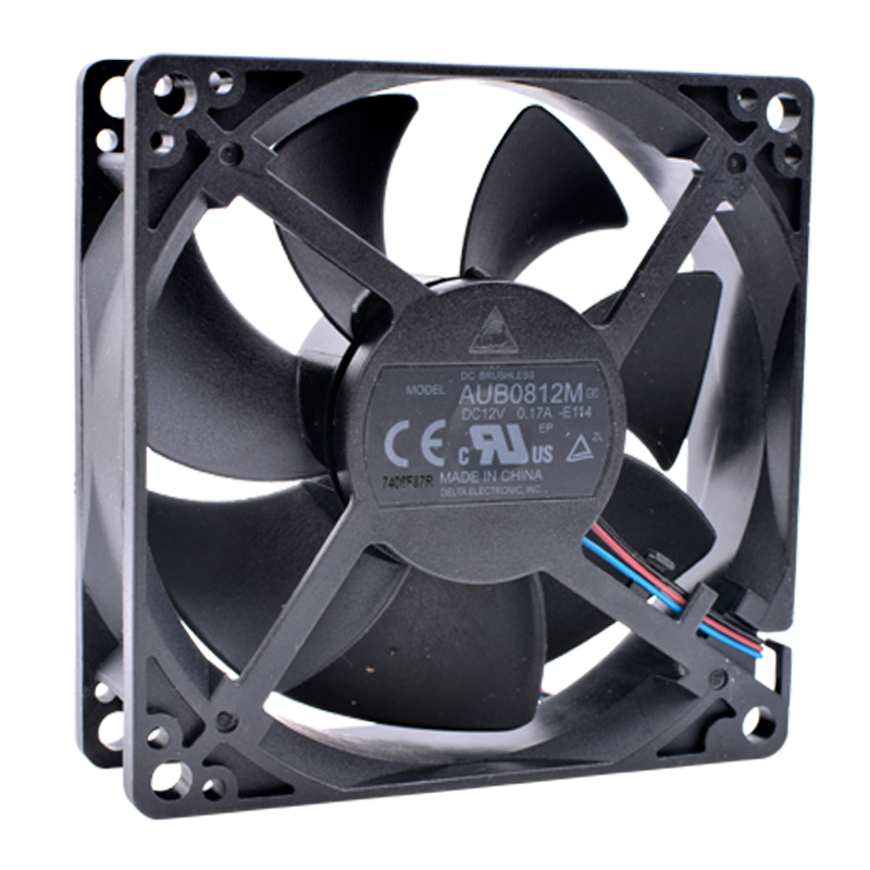 Brand new original Delta AUB0812M-E114 8cm <font><b>80mm</b></font> <font><b>fan</b></font> 8025 DC12V 0.17A Computer case power supply CPU projector cooling <font><b>fan</b></font> image