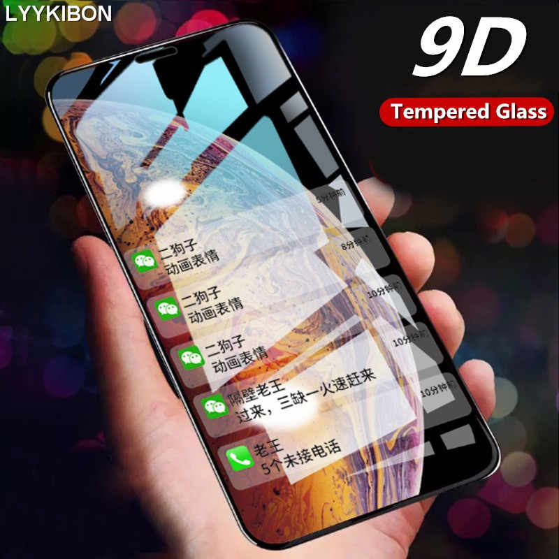 9D Full Cover tempered glass for iphone 6 7 6s 8 plus XS max XR screen protector glass for iphone X 11 Pro Max Protective Glass