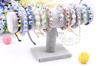 FREE SHIPPING Offering Discounts 4pcs Gray Velvet Watch Jewelry Bracelet Necklace Decorations Display Holder Stand T