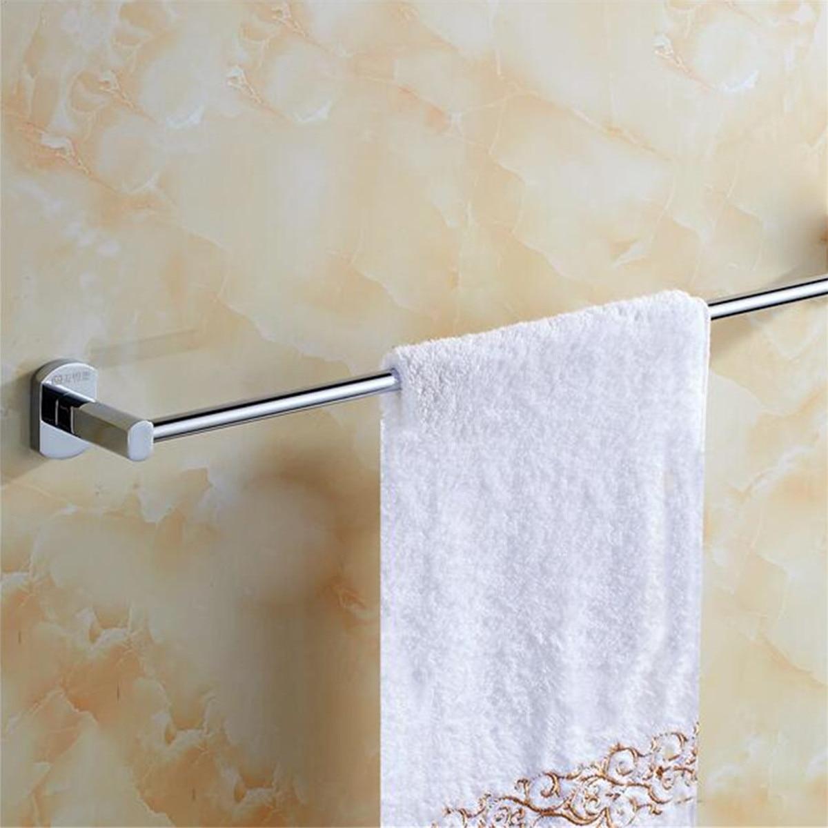 Bath Towel Holder For Wall Part - 50: Chrome Plating Towel Holder Zinc Alloy Wall Mounted Bathroom Bath Towel Rack  Bar Hotel Home Clothes